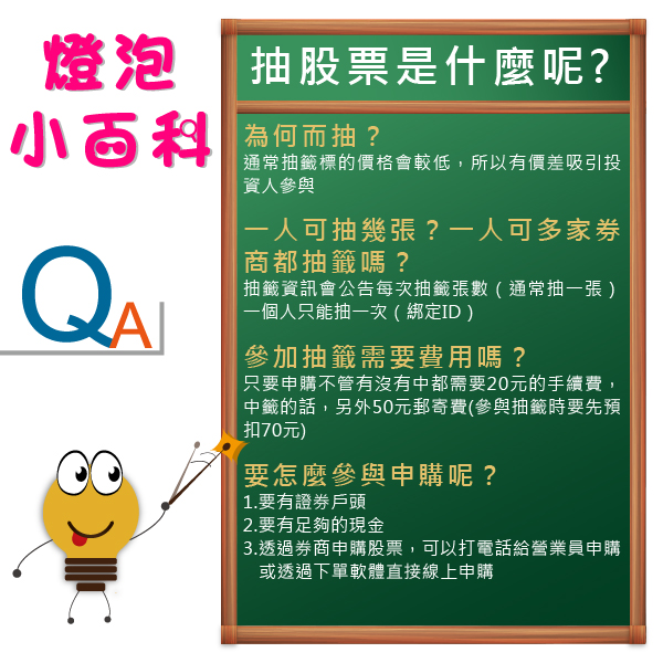 FAQ:抽股票是什麼?